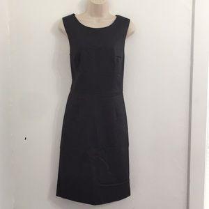 Ann Taylor shift dress size 10 black sleeveless